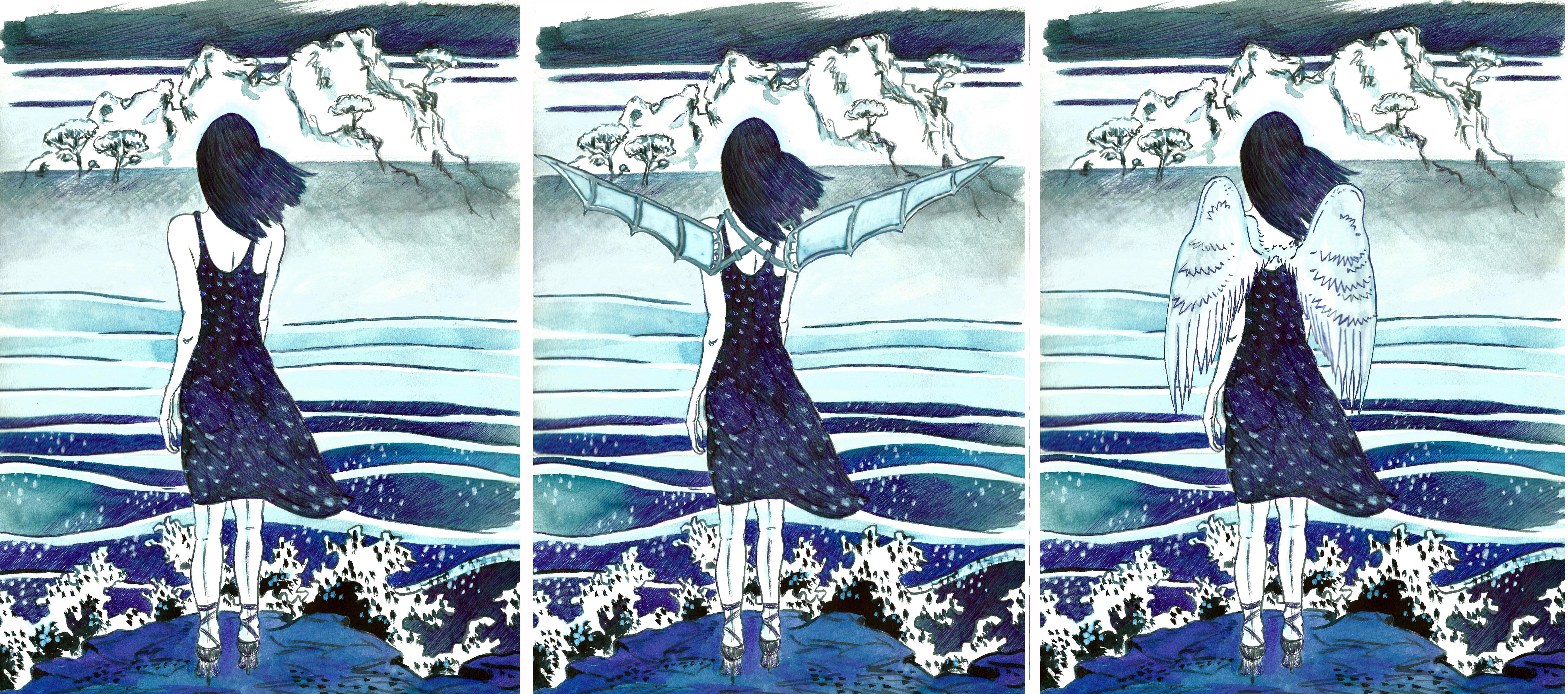 Séquence film_femme bleue & protheses